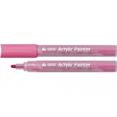 Маркер акриловый STA 1000-R417, 2-3 мм, розовый