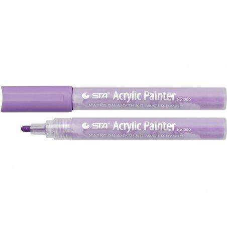 Маркер акриловый STA 1000-R826, 2-3 мм, фиолетовый