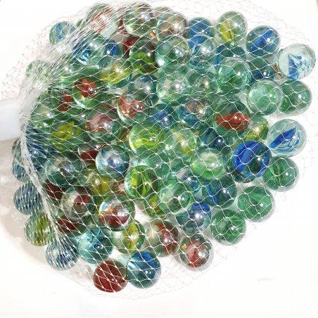 Декоративные стеклянные шарики d15 мм, цвет микс, 500 г
