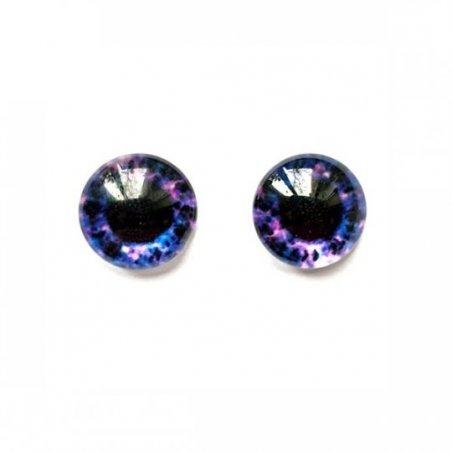 Глаза стеклянные для кукол №77318 (пара), 6 мм, цвет фиолетово-синий