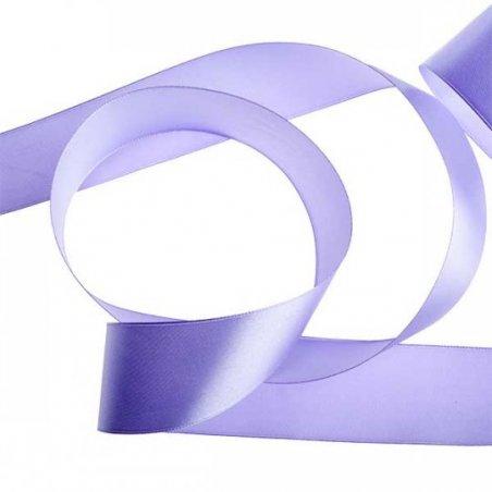 Атласная лента, цвет сиреневый, 40 мм (22 м)