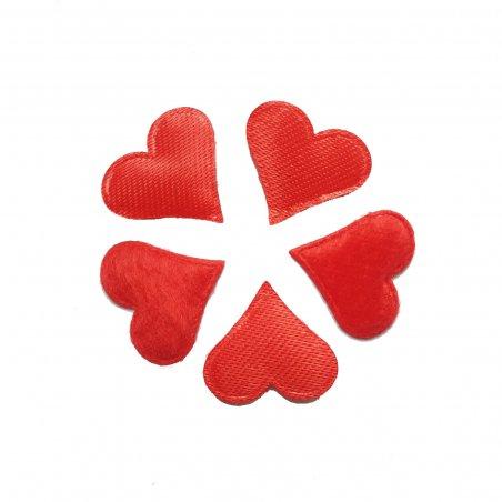 Сердце атласное 21х17 мм, 5 штук