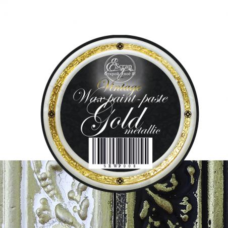 """Восковая краска-паста VINTAGE """"Gold Metallic"""", 10 мл"""