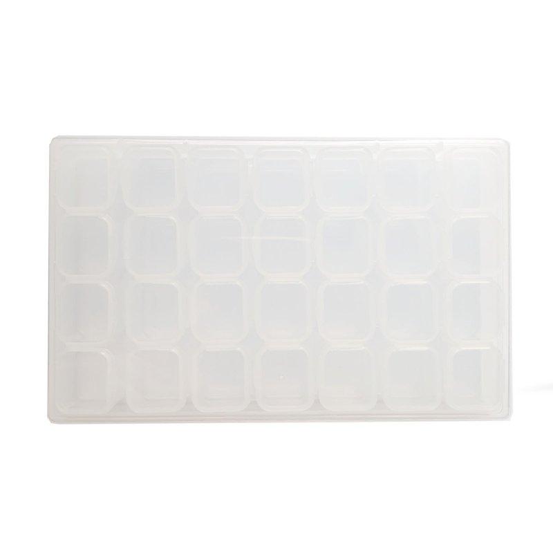 Органайзер для фурнитуры прозрачный 17,5х10,5х5,2 см (28 ячеек)