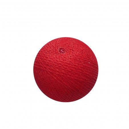 Хлопковый шарик, 6,5 см, цвет красный, 1 штука