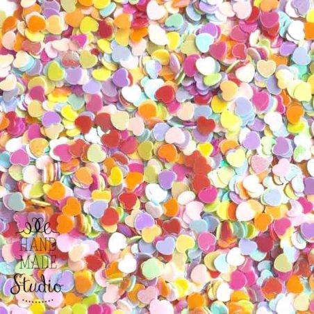"""Сухие блестки """"Сердечки"""", цвет - микс, 10 г"""