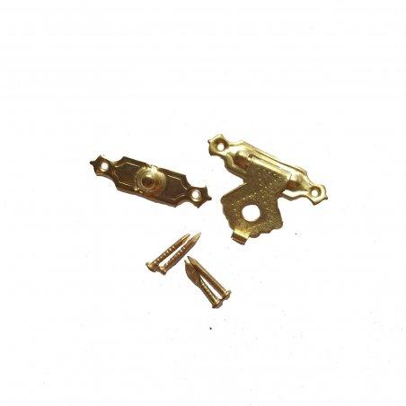Замок металлический А-004, цвет золото, 24х18 мм (1 штука)