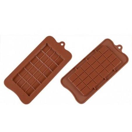 """Силиконовая форма на планшете """"Шоколадка"""", 20,5х10,5 см"""