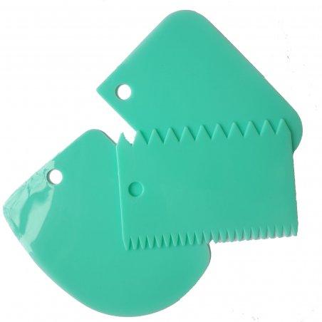 Набор кондитерских пластмассовых шпателей, 12х8 см, 3 штуки