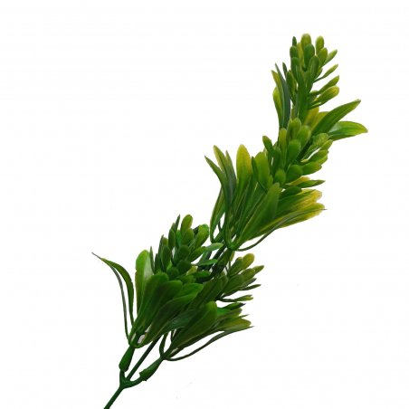 """Искусственная зелень """"Куст зеленый с хмелем"""", цвет зеленый, 21 см"""