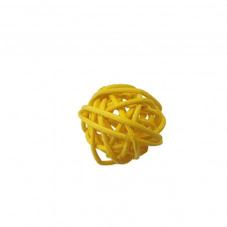Шарик из ротанга, цвет желтый 2,5 см