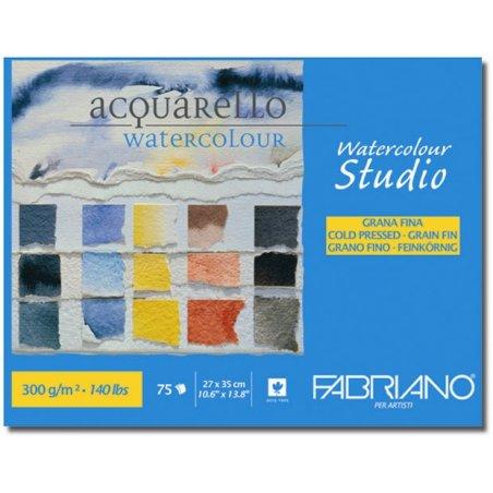 Акварельная бумага Watercolor Studio А4 (27х35 см), 300 г/м2, среднее зерно, Fabriano, 1 лист