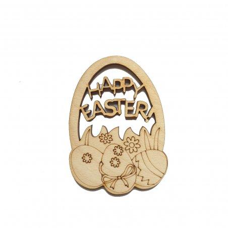 "Деревянная заготовка Яйцо ""Happy Easter!"", 8х5,5 см"