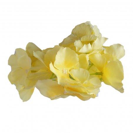 Соцветие гортензии, 15 см, цвет желтый