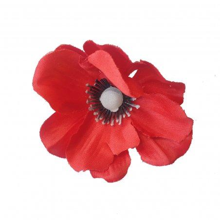 Цветок тканевый Мак, 8 см, 1 штука