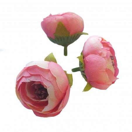 Цветы ранункулюса, 4 см, 3 штуки, цвет розовый