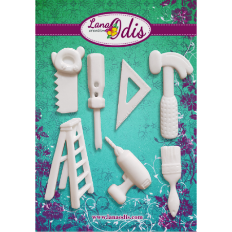 """Набор декоративных фигурок из модельного пластика """"Набор инструментов"""", 7 штук"""