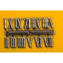 Цифры золото 15 староанглийские римские
