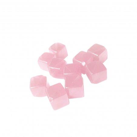 Пластиковые квадратные бусины, 10 мм, цвет светло-розовый, 10 штук