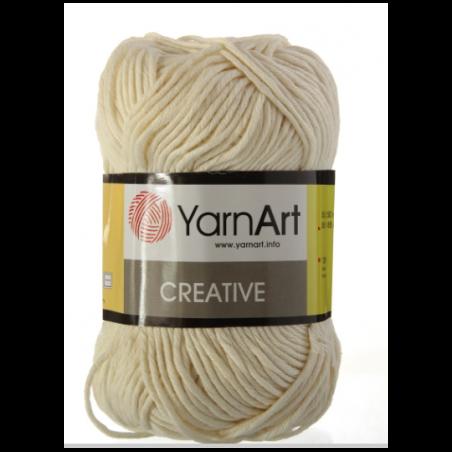 Хлопковая пряжа YarnArt creative, молочный №222