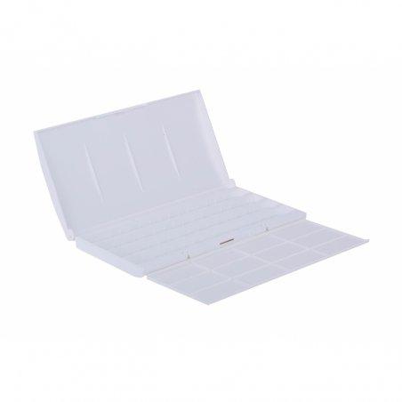 Пенал-коробка для акварельных красок, на 24/36 кювет, пластик, палитра, ЗХК