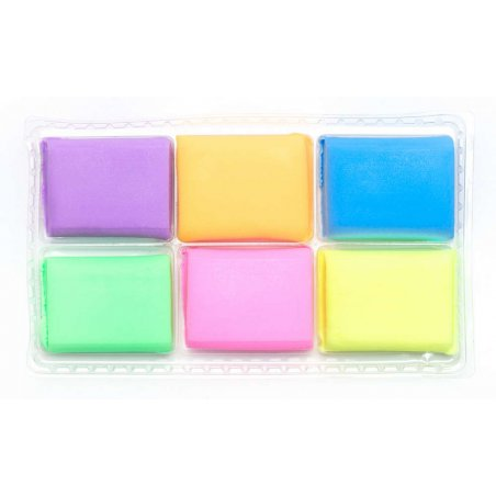 """Набор полимерной глины """"ASTRA"""", флуоресцентные цвета, 6 штук"""
