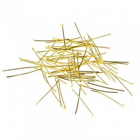 Гвоздики, цвет - золото 5 см, 10 г