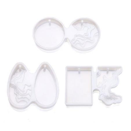 """Набор силиконовых форм для заливки эпоксидной смолой """"Волны"""", 3 штуки"""