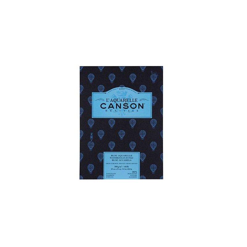 Альбом для акварели Canson Heritage, грубое зерно, 300 гр, 21х31 см, 12 листов