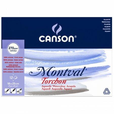 Альбом для акварели Canson Montval, 270 г/м2, 12 листов