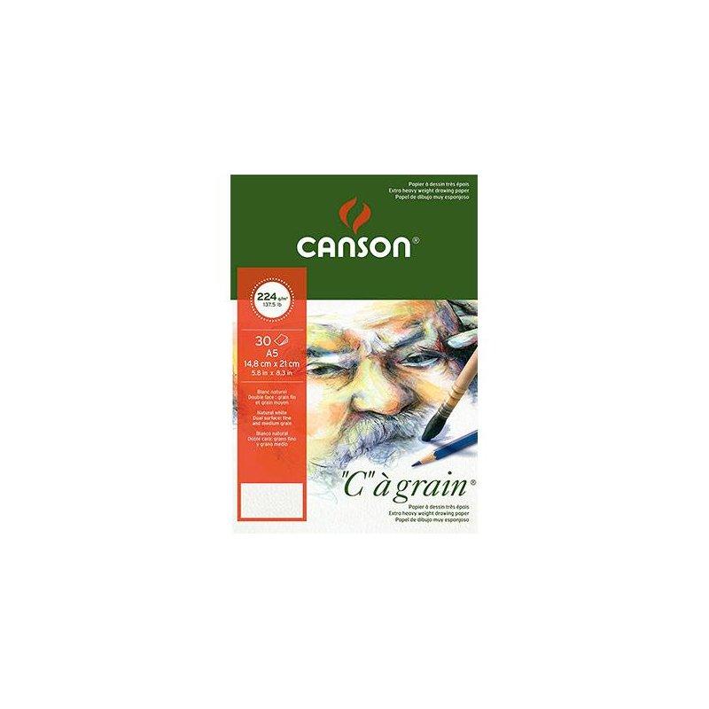 Альбом Canson для эскизов, Ca Grain 224 г/м2., А5 (14,8х21 см), 30 листов