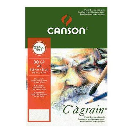 Альбом Canson для эскизов, Ca Grain 224 г/м2., А4 (21х29,7 см), 30 листов
