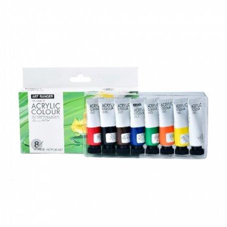 Набор акриловых красок Art Rangers, 8 цветов по 22 мл