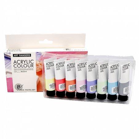 Набор акриловых красок Art Rangers, 8 цветов (пастельные тона) по 22 мл