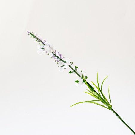 """Искусственная зелень """"Лаванда высокая"""", цвет белый, 25 см"""