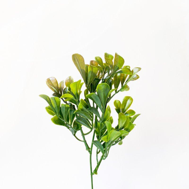 """Искусственная зелень """"Куст декоративный"""", цвет коричнево-зеленый, 23 см"""
