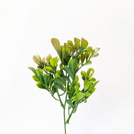"""Штучна зелень """"Кущ декоративний"""", колір коричнево-зелений, 23 см"""