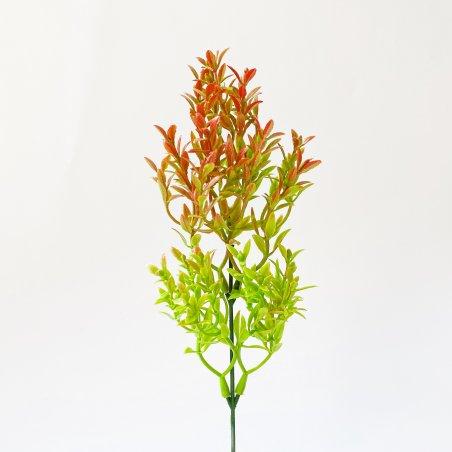 """Искусственная зелень """"Трава мелкая"""", цвет оранжевый, 26 см"""