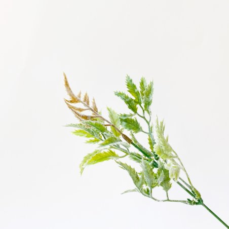 """Искусственная зелень """"Куст зеленый (пепельный)"""", цвет зеленый с флоковым покрытием, 25 см"""