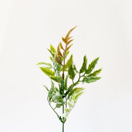 """Штучна зелень """"Кущ зелений (попелястий)"""", колір зелений з флоковим покриттям, 25 см"""