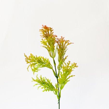 """Искусственная зелень """"Куст полыни тонированный"""", цвет оранжевый, 24 см"""