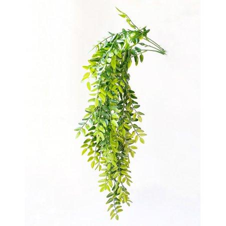"""Искусственная зелень """"Ветка фисташковая большая"""", цвет зеленый, 80 см"""