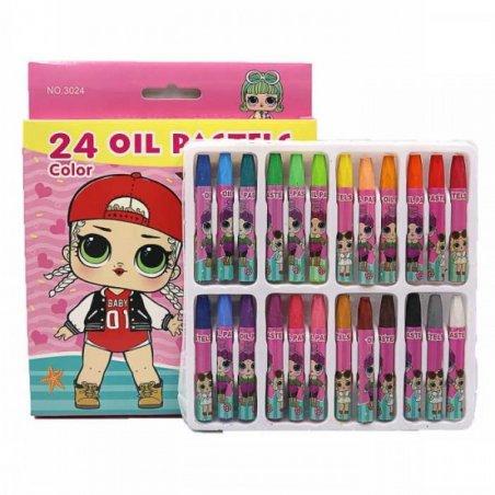 "Набор масляной пастели ""L.O.L"", 24 цвета"