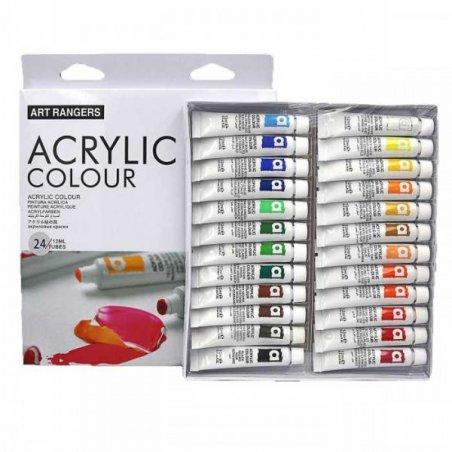 Набор акриловых красок Art Rangers, 24 цвета по 12 мл