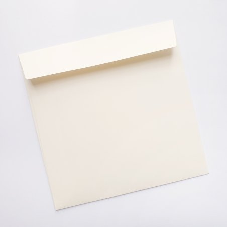 Конверт, 12,5х12,5 см, цвет ванильный