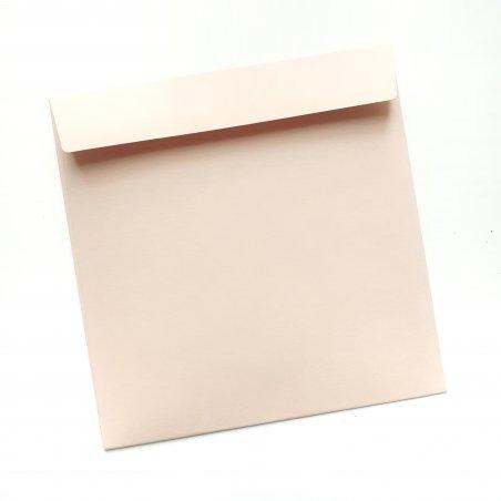 Конверт, 12,5х12,5 см, цвет бледно-розовый
