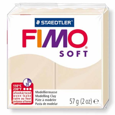 Полімерна глина Fimo Soft, 57 г, №7, карамель