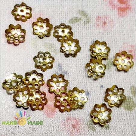 №3 Обіймач для намистин маленький, колір - золото, 20 штук
