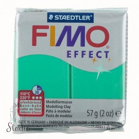 Полімерна глина Fimo Effect, №504, зелений напівпрозорий, 57 г