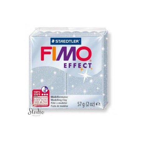 Полімерна глина Fimo Effect, №812, срібний з блискітками, 57 г